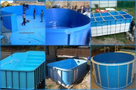 различные формы пластиковых бассейнов