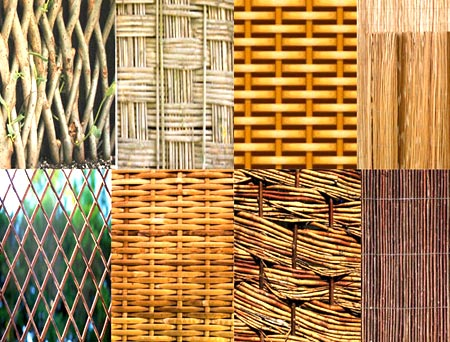декор плетеный забор
