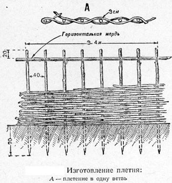 чертеж плетня