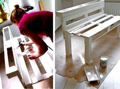 покраска скамейки