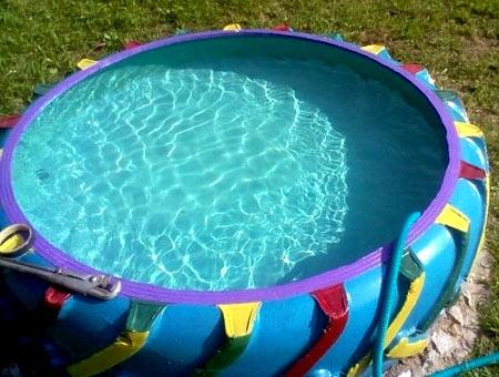 бассейн из автопокрышки