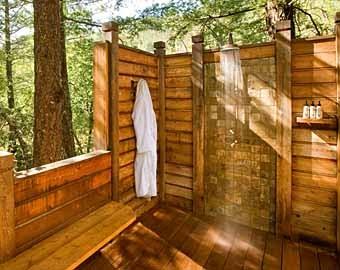 деревянный пол в душе