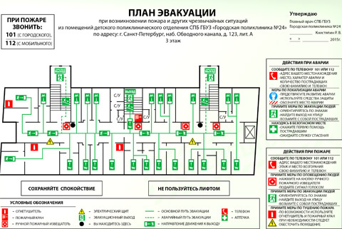 план эвакуации поликлиники