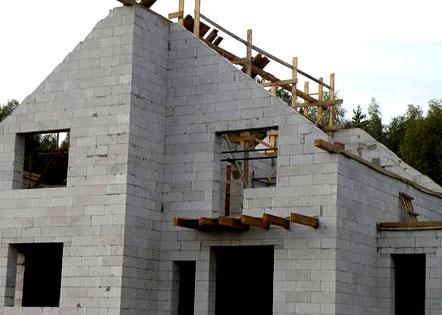 постройка дома из пеноблоков