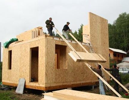 постройка дом сип панели