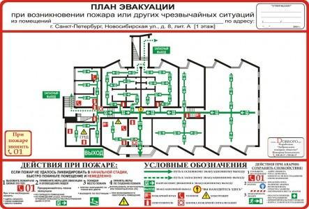 пример плана эвакуации первого этажа