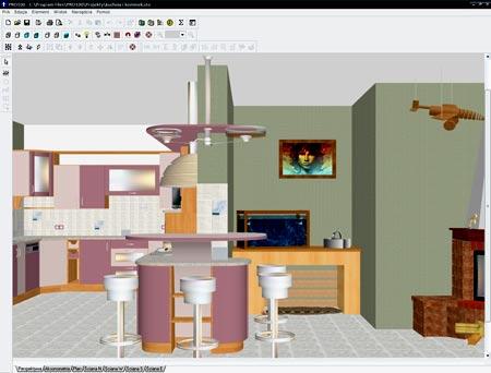 проектирование квартиры в программе pro100