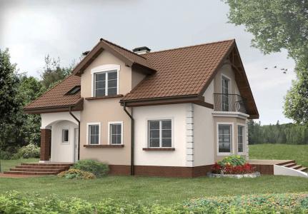 проект дома с белым фасадом