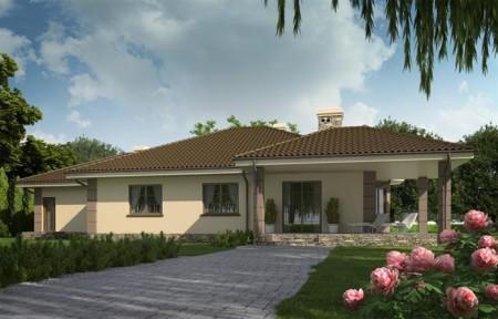 проект одноэтажного кирпичного дома для большой семьи