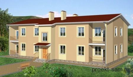 проект 2-х этажного многоквартирного дома