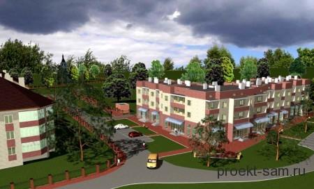 проект 3-х этажного дома