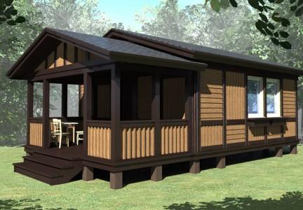 проект быстровозводимого одноэтажного дома