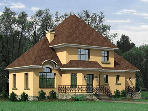 проект большого дома из пенобетона