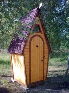 проект деревянного дачного туалета