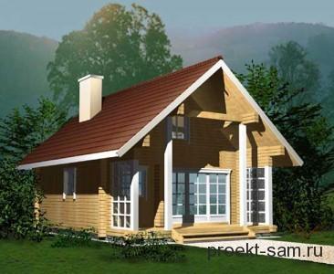 стандартный проект деревянного дома