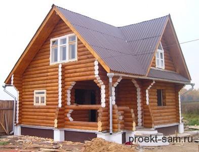 популярный проект деревянного дома из бревна