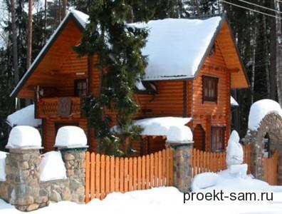 проект деревянного сельского дома