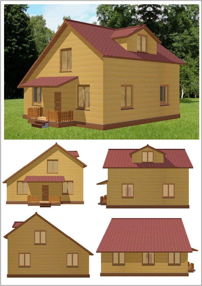 Дом 10 на 10 с сауной | 1000x708