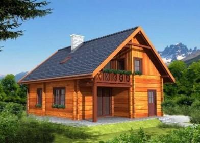 проект одноэтажного деревянного дома с мансардой