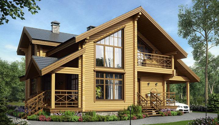 проект деревянного дома 200 кв. м.