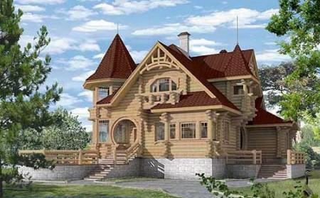проект деревянного дома до 250 кв. м.