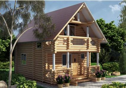 проект деревянного гостевого дома с баней