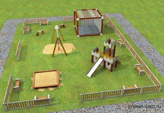 Детская площадка проект своими руками 14