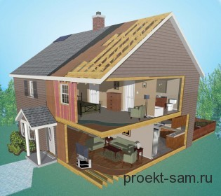 3 д проект дома в программе Flor Plan 3D