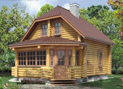проект дачного дома из бревна