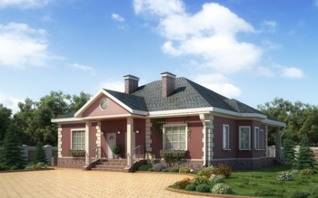 проект дома из блоков Porotherm