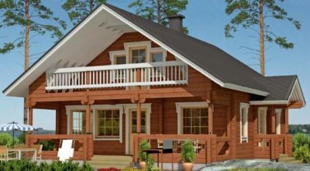 проект загородного дома из деревянного бруса