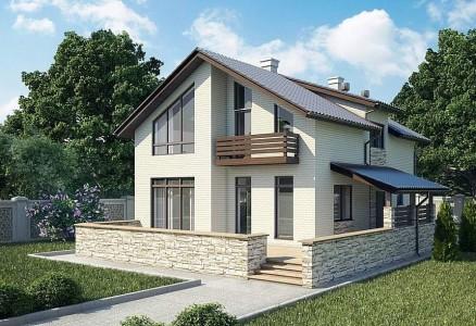 проект дома из газобетона до 200 кв. м.