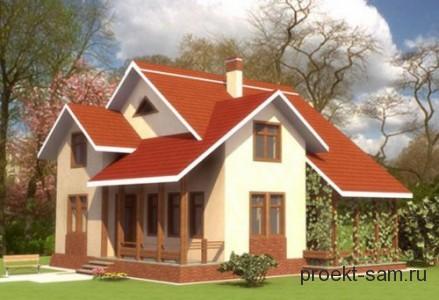 проект дома из газосиликатных блоков