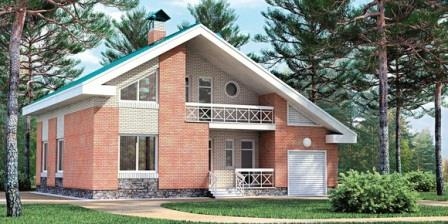 проект двухэтажного дома из керамических блоков