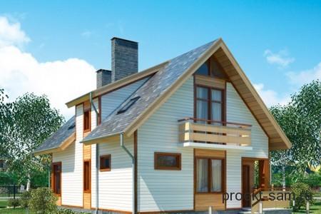 проект дома из пеноблоков 120 кв м