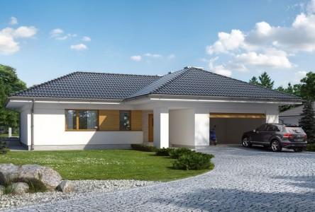 проект одноэтажного дома из пеноблоков до 200 кв. м.