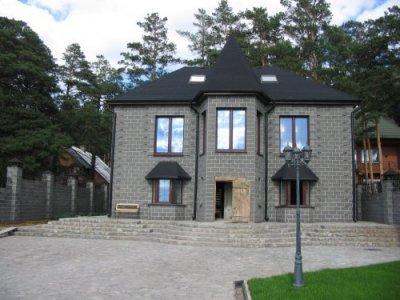 проект двухэтажного дома из шлакоблоков