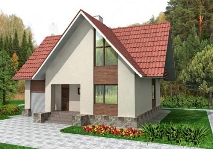 проект дома из сибита с мансардой