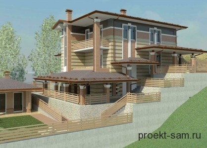 проект дома на сложном рельефе