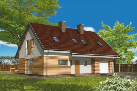 проект дома прямоугольной формы с гаражом