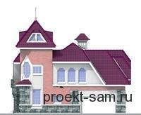 фасад двухэтажного дома с бассейном и спортзалом