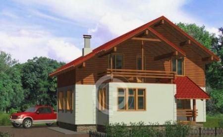 проект дома с гаражом и мансардой