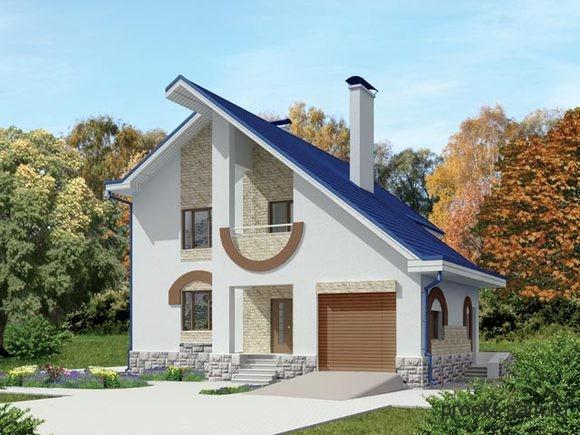 проект дома с гаражом на первом этаже