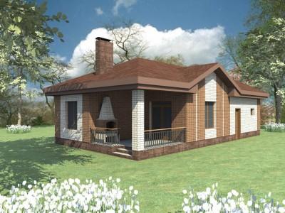 проект дома с летней кухней