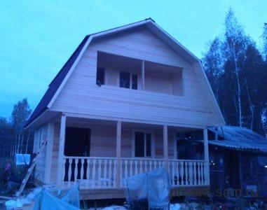 проект дома с ломаной крышей 6x6