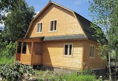 проект дома с ломаной крышей 6x8