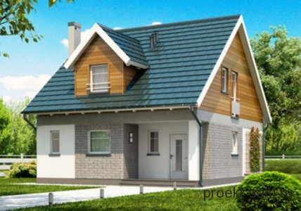 проект дома с мансардой до 100 кв м