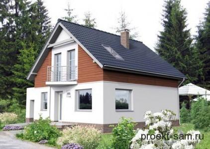 проект дома с мансардой 132 кв м