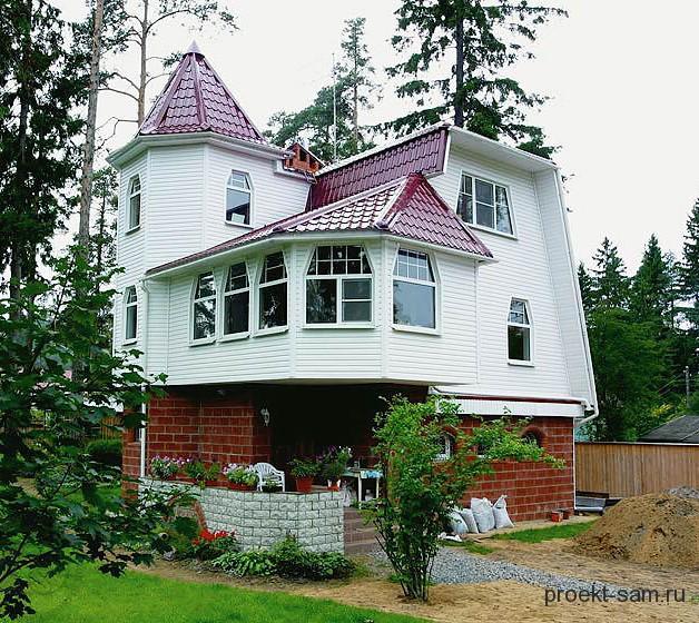 оригинальный проект дома с зимним садом