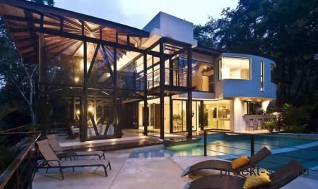 проект дома из стекла
